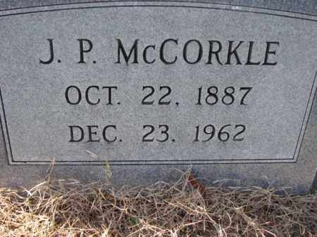 MCCORKLE, J.P. - Poinsett County, Arkansas | J.P. MCCORKLE - Arkansas Gravestone Photos
