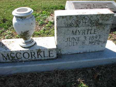 MCCORKLE, MYRTLE - Poinsett County, Arkansas | MYRTLE MCCORKLE - Arkansas Gravestone Photos