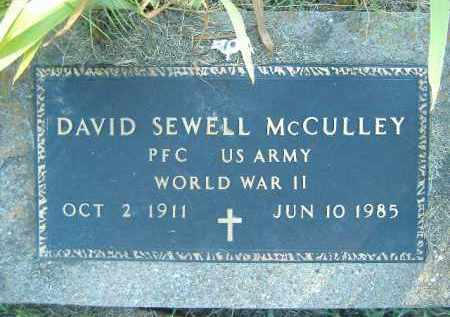 MCCULLEY  (VETERAN WWII), DAVID SEWELL - Poinsett County, Arkansas | DAVID SEWELL MCCULLEY  (VETERAN WWII) - Arkansas Gravestone Photos