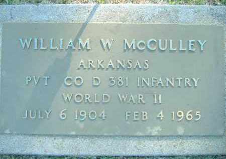 MCCULLEY  (VETERAN WWII), WILLIAM W. - Poinsett County, Arkansas | WILLIAM W. MCCULLEY  (VETERAN WWII) - Arkansas Gravestone Photos