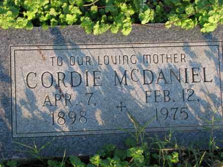 MCDANIEL, CORDIE - Poinsett County, Arkansas | CORDIE MCDANIEL - Arkansas Gravestone Photos