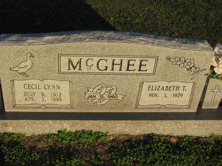 MCGHEE, CECIL LYNN - Poinsett County, Arkansas | CECIL LYNN MCGHEE - Arkansas Gravestone Photos