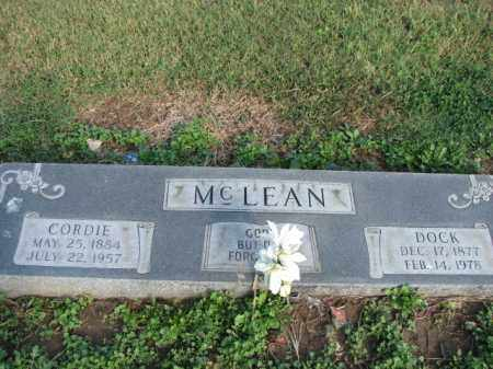 MCLEAN, DOCK - Poinsett County, Arkansas | DOCK MCLEAN - Arkansas Gravestone Photos