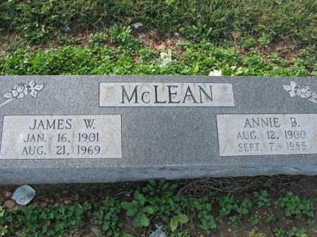 MCLEAN, JAMES W. - Poinsett County, Arkansas | JAMES W. MCLEAN - Arkansas Gravestone Photos
