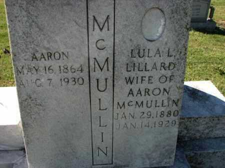 LILLARD MCMULLIN, LULA - Poinsett County, Arkansas | LULA LILLARD MCMULLIN - Arkansas Gravestone Photos