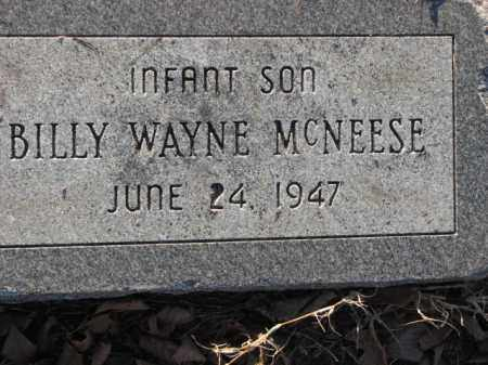 MCNEESE, BILLY WAYNE - Poinsett County, Arkansas | BILLY WAYNE MCNEESE - Arkansas Gravestone Photos