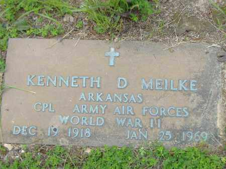 MEILKE  (VETERAN WWII), KENNETH D - Poinsett County, Arkansas | KENNETH D MEILKE  (VETERAN WWII) - Arkansas Gravestone Photos