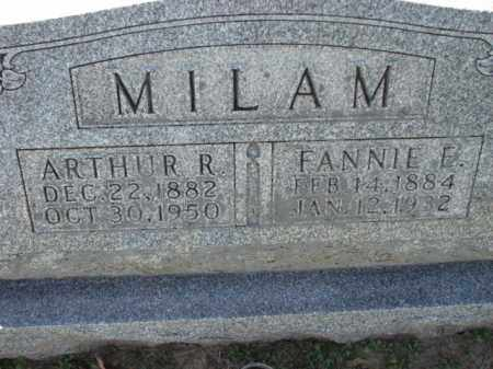 MILAM, FANNIE E. - Poinsett County, Arkansas | FANNIE E. MILAM - Arkansas Gravestone Photos