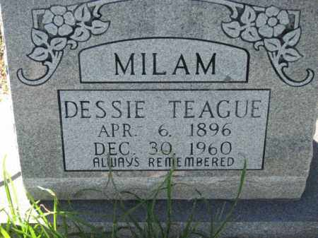 TEAGUE MILAM, DESSIE - Poinsett County, Arkansas | DESSIE TEAGUE MILAM - Arkansas Gravestone Photos