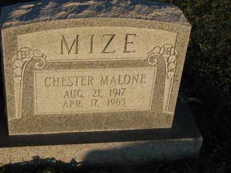 MIZE, CHESTER MALONE - Poinsett County, Arkansas | CHESTER MALONE MIZE - Arkansas Gravestone Photos