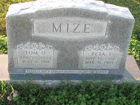 MIZE, TOM O. - Poinsett County, Arkansas | TOM O. MIZE - Arkansas Gravestone Photos