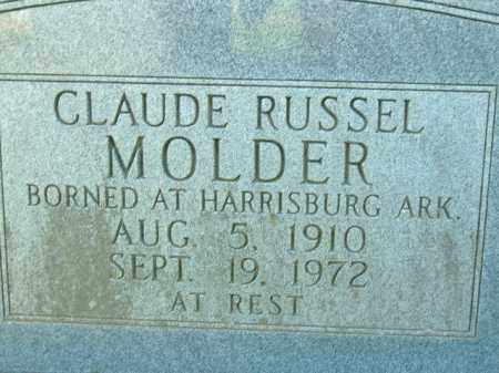 MOLDER, CLAUDE RUSSELL - Poinsett County, Arkansas | CLAUDE RUSSELL MOLDER - Arkansas Gravestone Photos