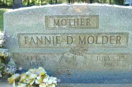 MOLDER, FANNIE D. - Poinsett County, Arkansas | FANNIE D. MOLDER - Arkansas Gravestone Photos