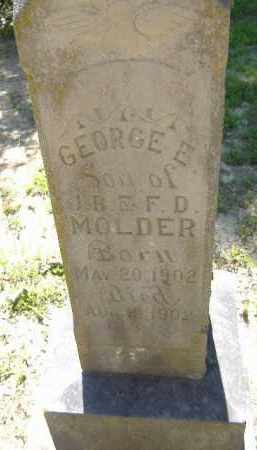 MOLDER, GEORGE E. - Poinsett County, Arkansas | GEORGE E. MOLDER - Arkansas Gravestone Photos