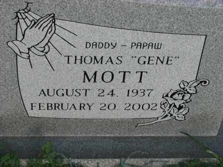 "MOTT, THOMAS ""GENE"" - Poinsett County, Arkansas 