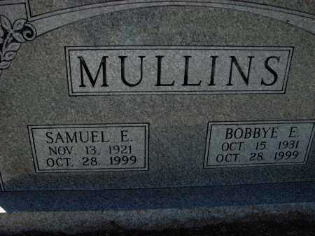 MULLINS, BOBBYE E. - Poinsett County, Arkansas | BOBBYE E. MULLINS - Arkansas Gravestone Photos