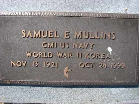 MULLINS (VETERAN 2 WARS), SAMUEL E - Poinsett County, Arkansas | SAMUEL E MULLINS (VETERAN 2 WARS) - Arkansas Gravestone Photos