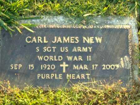 NEW  (VETERAN WWII), CARL JAMES - Poinsett County, Arkansas | CARL JAMES NEW  (VETERAN WWII) - Arkansas Gravestone Photos