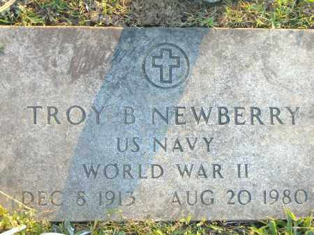 NEWBERRY  (VETERAN WWII), TROY B - Poinsett County, Arkansas | TROY B NEWBERRY  (VETERAN WWII) - Arkansas Gravestone Photos