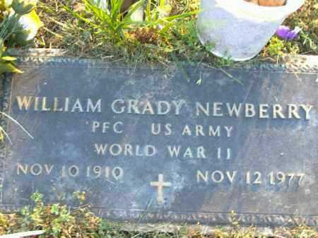 NEWBERRY  (VETERAN WWII), WILLIAM GRADY - Poinsett County, Arkansas | WILLIAM GRADY NEWBERRY  (VETERAN WWII) - Arkansas Gravestone Photos