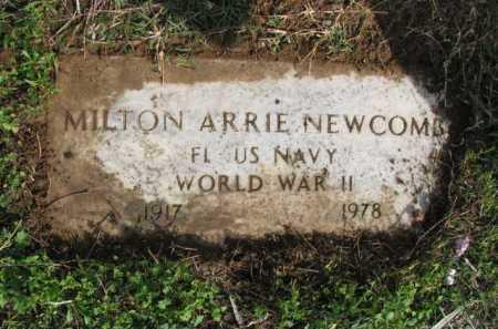 NEWCOMB (VETERAN WWII), MILTON ARRIE - Poinsett County, Arkansas | MILTON ARRIE NEWCOMB (VETERAN WWII) - Arkansas Gravestone Photos