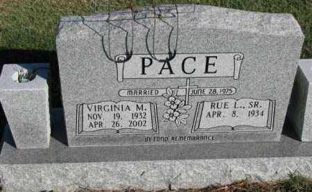 PACE, VIRGINIA M. - Poinsett County, Arkansas   VIRGINIA M. PACE - Arkansas Gravestone Photos