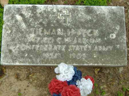 PECK  (VETERAN CSA), TILMAN H - Poinsett County, Arkansas | TILMAN H PECK  (VETERAN CSA) - Arkansas Gravestone Photos