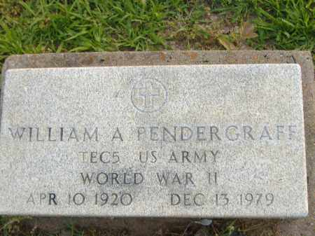 PENDERGRAFF  (VETERAN WWII), WILLIAM A - Poinsett County, Arkansas | WILLIAM A PENDERGRAFF  (VETERAN WWII) - Arkansas Gravestone Photos