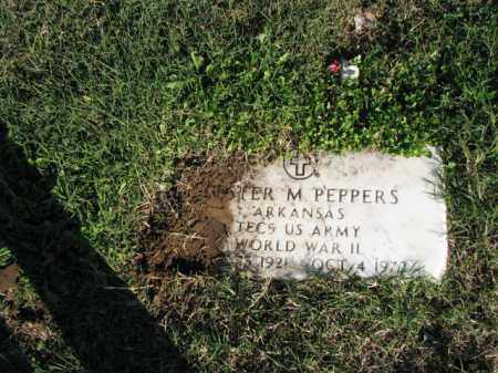 PEPPERS (VETERAN WWII), LESTER M. - Poinsett County, Arkansas | LESTER M. PEPPERS (VETERAN WWII) - Arkansas Gravestone Photos