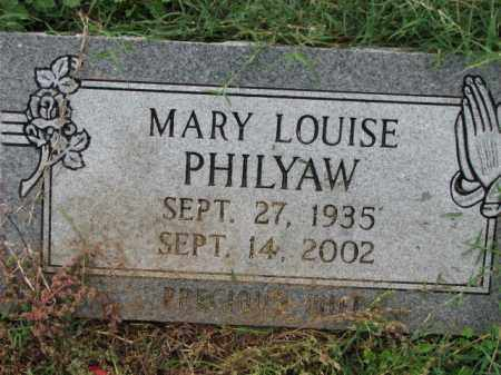 PHILYAW, MARY LOUISE - Poinsett County, Arkansas | MARY LOUISE PHILYAW - Arkansas Gravestone Photos