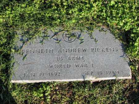 PICKENS (VETERAN WWI), KENNETH ANDREW - Poinsett County, Arkansas | KENNETH ANDREW PICKENS (VETERAN WWI) - Arkansas Gravestone Photos