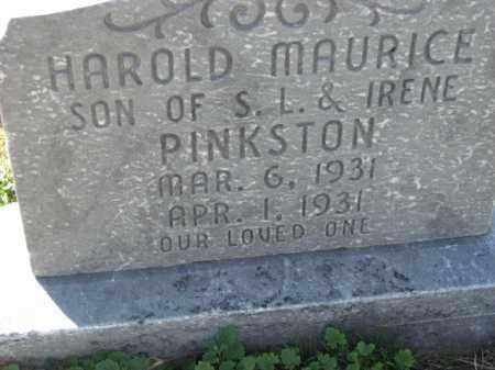 PINKSTON, HAROLD MAURICE - Poinsett County, Arkansas | HAROLD MAURICE PINKSTON - Arkansas Gravestone Photos