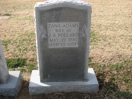 ADAMS POLLARD, ZANA - Poinsett County, Arkansas | ZANA ADAMS POLLARD - Arkansas Gravestone Photos