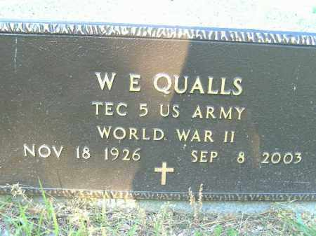 QUALLS  (VETERAN WWII), W E - Poinsett County, Arkansas | W E QUALLS  (VETERAN WWII) - Arkansas Gravestone Photos