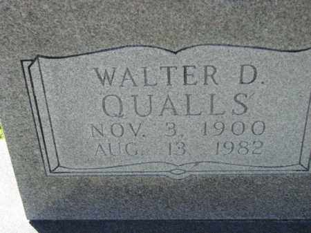 QUALLS, WALTER D. - Poinsett County, Arkansas | WALTER D. QUALLS - Arkansas Gravestone Photos