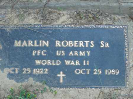ROBERTS, SR  (VETERAN WWII), MARLIN - Poinsett County, Arkansas | MARLIN ROBERTS, SR  (VETERAN WWII) - Arkansas Gravestone Photos