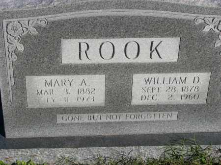 ROOK, WILLIAM D. - Poinsett County, Arkansas | WILLIAM D. ROOK - Arkansas Gravestone Photos
