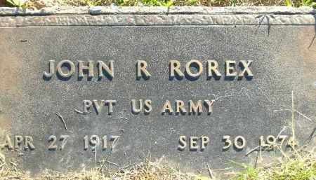 ROREX  (VETERAN), JOHN R. - Poinsett County, Arkansas | JOHN R. ROREX  (VETERAN) - Arkansas Gravestone Photos