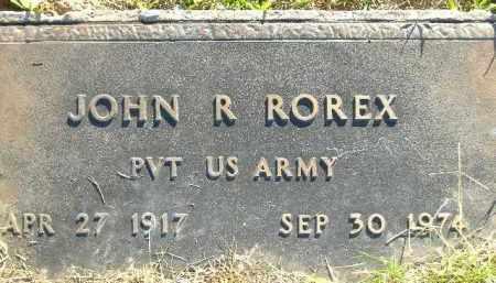 ROREX  (VETERAN), JOHN R. - Poinsett County, Arkansas | JOHN R. ROREX  (VETERAN) - Arkansas Gravestone Photos
