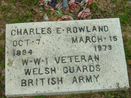 ROWLAND  (VETERAN WWI), CHARLES E - Poinsett County, Arkansas | CHARLES E ROWLAND  (VETERAN WWI) - Arkansas Gravestone Photos