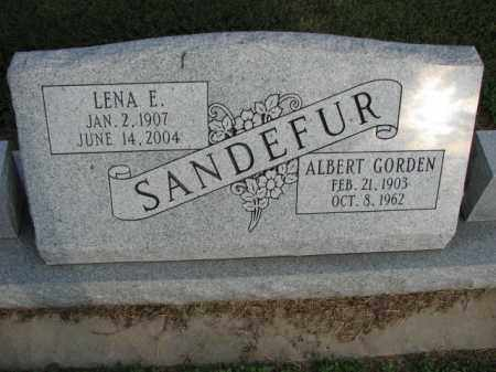 SANDEFUR, LENA E. - Poinsett County, Arkansas | LENA E. SANDEFUR - Arkansas Gravestone Photos