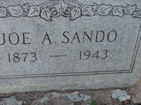 SANDO, JOE A. - Poinsett County, Arkansas | JOE A. SANDO - Arkansas Gravestone Photos