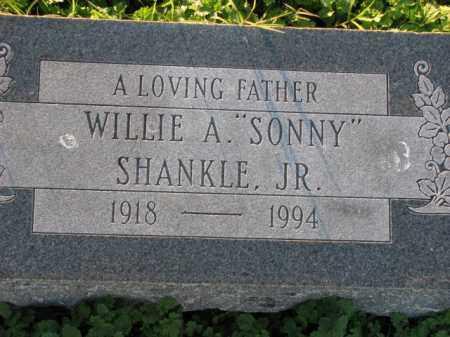 "SHANKLE, JR., WILLIE A. ""SONNY"" - Poinsett County, Arkansas | WILLIE A. ""SONNY"" SHANKLE, JR. - Arkansas Gravestone Photos"