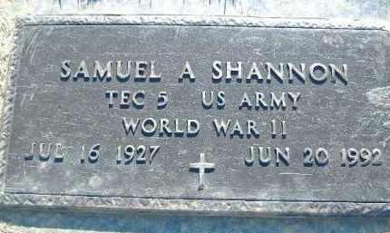SHANNON  (VETERAN WWII), SAMUEL A. - Poinsett County, Arkansas | SAMUEL A. SHANNON  (VETERAN WWII) - Arkansas Gravestone Photos