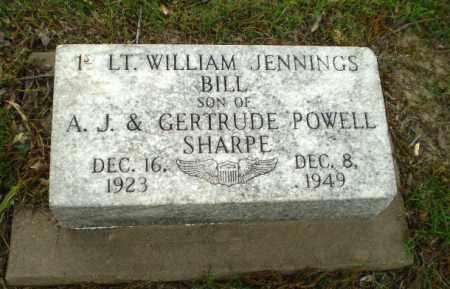 SHARPE (VETERAN), WILLIAM JENNINGS - Poinsett County, Arkansas | WILLIAM JENNINGS SHARPE (VETERAN) - Arkansas Gravestone Photos