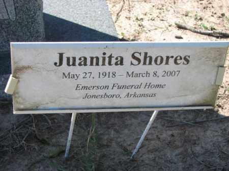 SHORES, JUANITA - Poinsett County, Arkansas | JUANITA SHORES - Arkansas Gravestone Photos