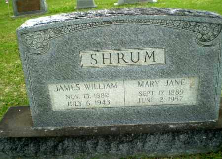 SHRUM, JAMES WILLIAM - Poinsett County, Arkansas | JAMES WILLIAM SHRUM - Arkansas Gravestone Photos