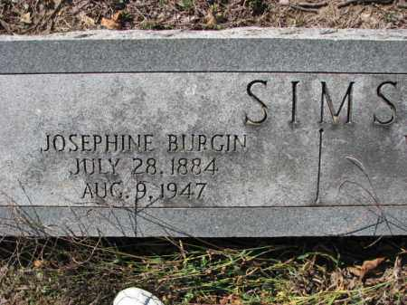 BURGIN SIMS, JOSEPHINE - Poinsett County, Arkansas | JOSEPHINE BURGIN SIMS - Arkansas Gravestone Photos