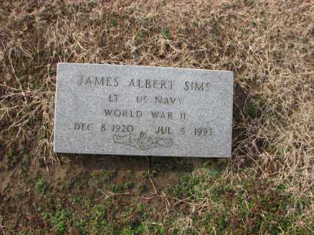 SIMS (VETERAN WWII), JAMES ALBERT - Poinsett County, Arkansas | JAMES ALBERT SIMS (VETERAN WWII) - Arkansas Gravestone Photos