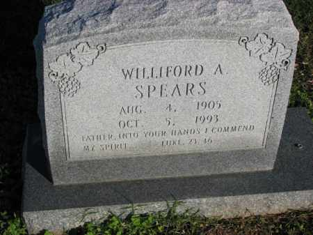 SPEARS, WILLIFORD A. - Poinsett County, Arkansas | WILLIFORD A. SPEARS - Arkansas Gravestone Photos